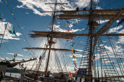 De högväxta skeppen springer 2017 Klaipeda, 07 29 08 01 Royaltyfri Bild