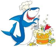 De Haai van de kok Stock Afbeeldingen