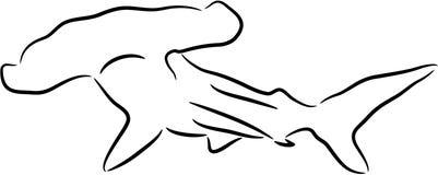 De haai van Hammerhead Royalty-vrije Stock Afbeelding
