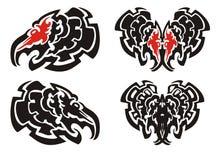 De haan hoofdmascotte van Turkije in stammenstijl Royalty-vrije Stock Afbeeldingen