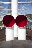 De haan van de lucht op een oud varend schip royalty-vrije stock afbeeldingen