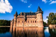 De Haar Castelo, os Países Baixos Foto de Stock Royalty Free