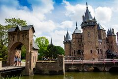 Free De Haar Castle And The Outside Walls And Gate, Utrecht Stock Photo - 178936450