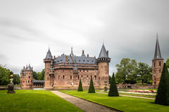 De Haar Castle is the biggest castle in The Netherlands Royalty Free Stock Photography