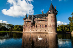 De Haar Castle, the Netherlands. De Haar Castle is the biggest and most luxurious castle of the Netherlands. With its towers, turrets, moats, gates and Royalty Free Stock Image
