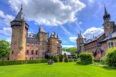 De Haar slott nära Utrecht, Nederländerna royaltyfri fotografi