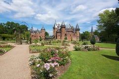 De Haar slott nära Utrecht, Nederländerna royaltyfri foto
