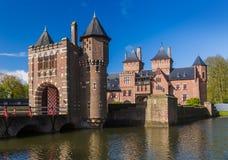 De Haar slott nära Utrecht - Nederländerna royaltyfri foto