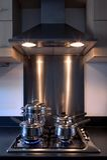 De haardplaat van het gas en trekkerventilator. Royalty-vrije Stock Fotografie
