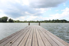 Pier off the Haarrijnse Plas. A view at the pier in Utrecht, The Netherlands Royalty Free Stock Images