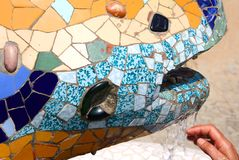 De hagedis van Gaudi - Barcelona Royalty-vrije Stock Afbeelding