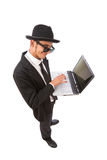 De hakker van de computer Royalty-vrije Stock Afbeeldingen