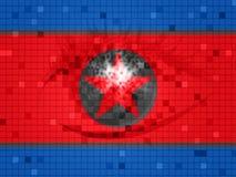 De Hakkers van Dprkcyber van 3d Illustratie van het Noordenkoreanen royalty-vrije illustratie
