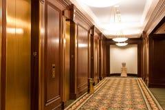 De Hal van de lift en Moderne Verlichting stock fotografie