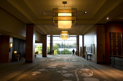 De hal van het luxehotel Royalty-vrije Stock Foto's