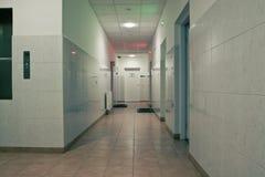 De hal van het ziekenhuis Stock Afbeeldingen