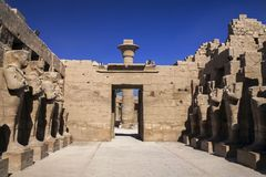 De Hal van de Karnaktempel in Luxor Egypte stock foto
