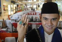 DE HALFEDELSTEENkoorts VAN INDONESIË Stock Foto's