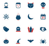 De Halloween icônes simplement Photographie stock libre de droits