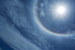 De halo van de zon Stock Afbeelding