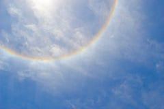 De Halo van de zon in de Hemel Royalty-vrije Stock Afbeelding