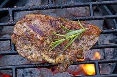 De hals van de lamskotelet op barbecue Royalty-vrije Stock Foto
