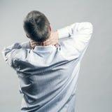 De hals van de pijn Stock Foto