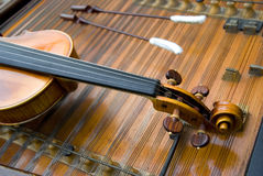 De hals van een viool Stock Fotografie