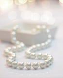 De halsband van de parel royalty-vrije stock foto's