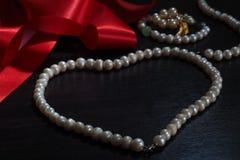 De halsband van de parel Stock Fotografie