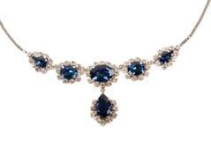 De Halsband van de saffier royalty-vrije stock fotografie