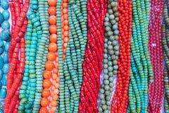 De halsbanden van de halfedelsteen Stock Foto
