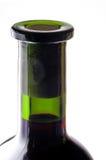 De halsclose-up van de rode wijnfles Royalty-vrije Stock Afbeeldingen