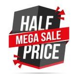 De halve Banner van de Prijs Megaverkoop Stock Afbeeldingen