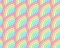 De halve Cirkel roteert het Gewaagde Naadloze Patroon van de Regenboogpastelkleur Stock Afbeeldingen