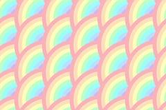 De halve Cirkel roteert het Naadloze Patroon van de Regenboogpastelkleur Stock Afbeelding