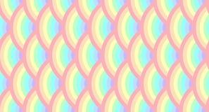 De halve Cirkel roteert het Naadloze Patroon van de Regenboogpastelkleur Royalty-vrije Stock Fotografie