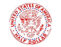 De halve dollar van de Verenigde Staten Stock Foto's