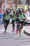 De halve marathon 2011 van Praag Stock Fotografie