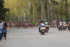De halve marathon van het begin Stock Afbeelding