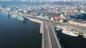 De halve marathon van Kyiv van novaposhta 7 april, 2019 kiev ukraine Lucht Mening stock footage