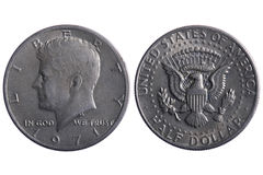 De halve muntstukken van de Dollar Royalty-vrije Stock Afbeelding