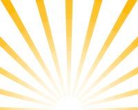 De halve retro achtergrond van Zonstralen, gele gekleurde modieuze zonnestraal Glans de Zomerpatroon Eps10 Vectorstarburstillustr vector illustratie