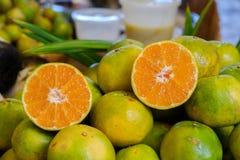 De halve sinaasappel Stock Foto