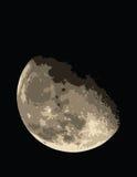 De halve Zwarte Achtergrond van de Maan Royalty-vrije Stock Afbeelding
