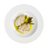 De ham van de Rollade van de kip, kaas, spinazie, olijfolie Royalty-vrije Stock Foto