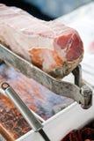 De ham van Parma op tribune Stock Foto's