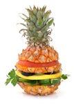 De hamburger van de ananas royalty-vrije stock fotografie