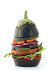 De hamburger van de aubergine stock fotografie