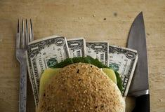De Hamburger van de dollar Royalty-vrije Stock Afbeeldingen